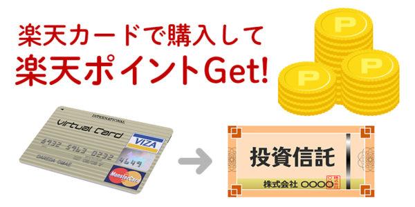 楽天カードで投資信託を購入して楽天ポイントがもらえる
