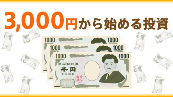 3000円から始める投資