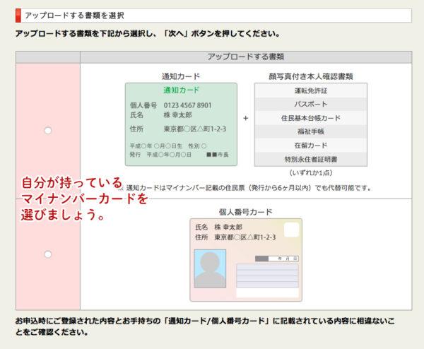 カブドットコム証券のマイナンバー本人確認の登録の手順2